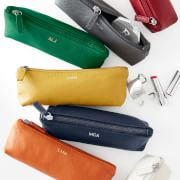 The Elisabetta Cosmetic Bag: Italian craftsmanship in a rainbow of colors – bellissima!