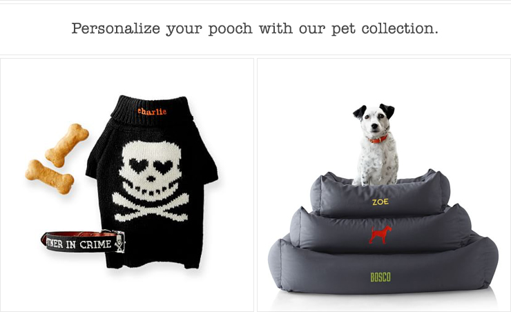 Personalize your pooch with our new pet collection.