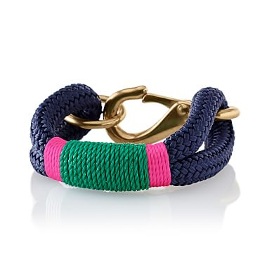 The Kennebunkport Bracelet, Small, Green and Pink