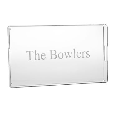 Acrylic Serving Tray, Large - Personalized