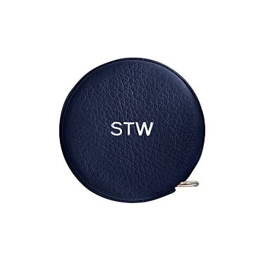 Leather Tape Measure, Navy