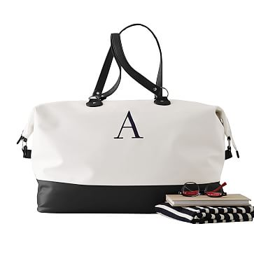 Colorfield Duffel, White with Black