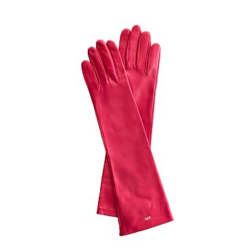 Women's Italian Leather Opera Glove, Size 8, Large, Magenta