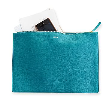 Vivid Zip Pouch, Turquoise