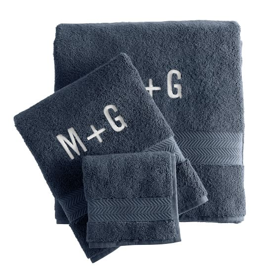 Turkish Hydro Cotton Towel Set, Porcelain Blue