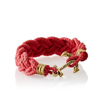 Turks Head Bracelet, Medium, Red