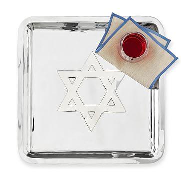 Silver Hanukkah Platter
