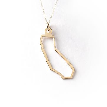 Maya Brenner State Necklaces, 14K Gold, California