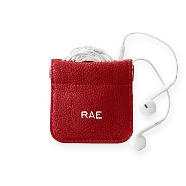 Hinged Earbud Case, Red