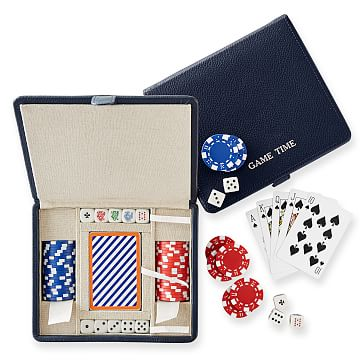 Mini Travel Poker Set, Navy