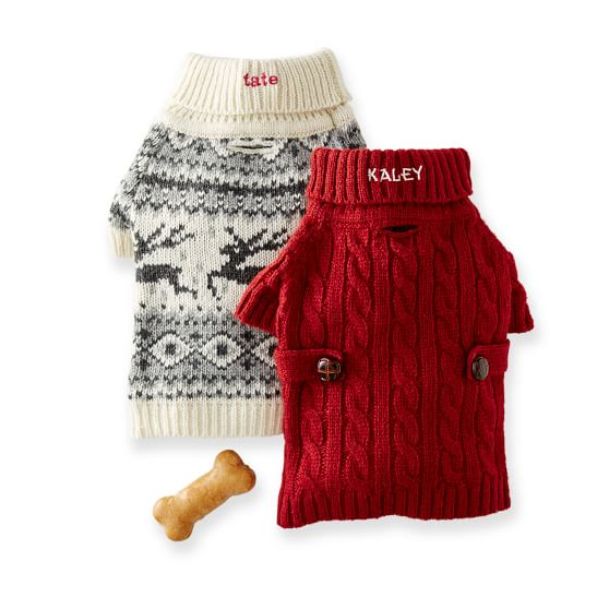 Free Patterns For Knitting Looms : Knit Dog Sweater Mark and Graham