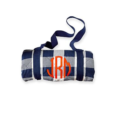 Gingham Picnic Blanket, Navy