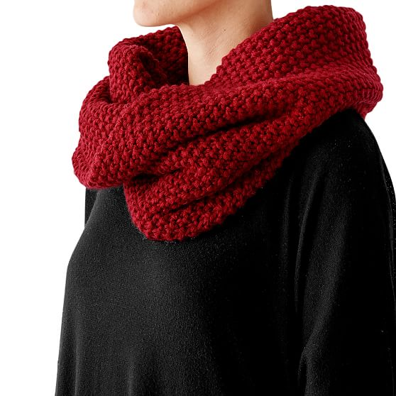 Chunky Knit Twisted Cowl Mark and Graham