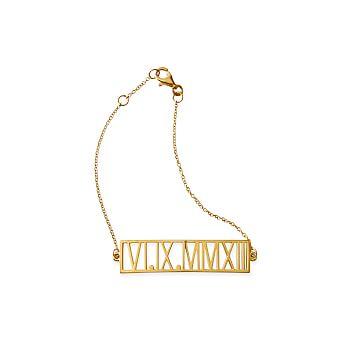 Roman Numeral Chain Bracelet, 18kt Gold Plate