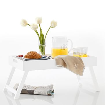 Lacquer Breakfast Tray, White