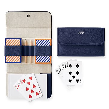 Travel Playing Cards, Double Deck, Navy