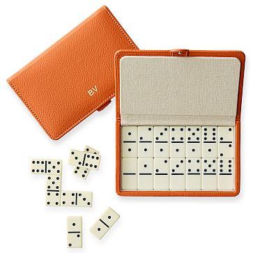 Travel Domino Set, Orange