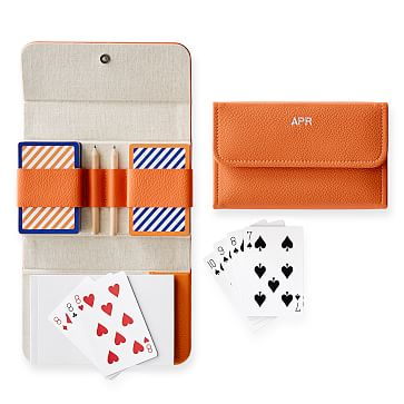 Travel Playing Cards, Double Deck, Orange