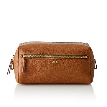 The Daily Travel Pouch, 10 inches x 5 inches, Leather, Camel