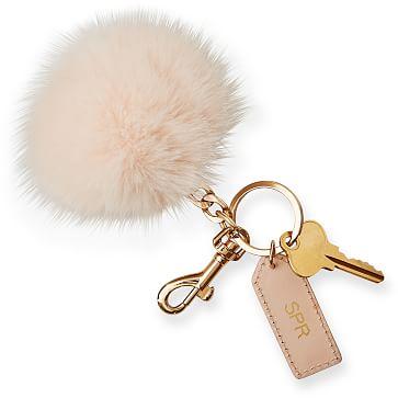 Pompom Keychain, Blush