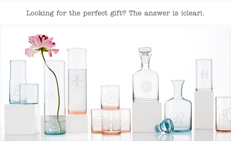 Looking for the perfect gift? The answer is {clear}.