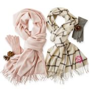 Super-soft scarves you'll {fall} in love with.