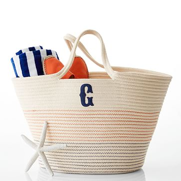 Rope Tote, A, Natural-Navy