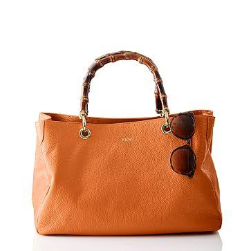 Bamboo Elisabetta Slouch Handbag, Tangerine
