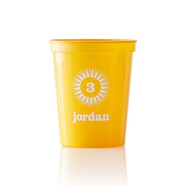 Colored Plastic Cups, Set of 25, Yellow, Mono