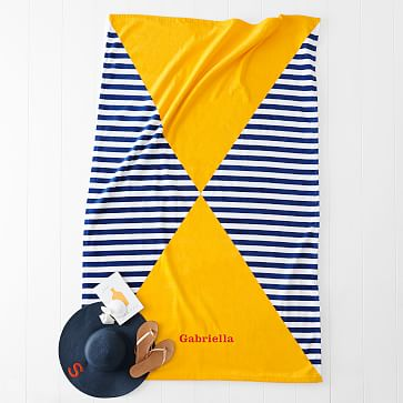 Printed Beach Towel, Hourglass, 41 inches x 65 inches