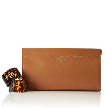 Hinge Clutch, Tan