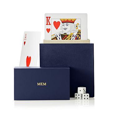 Mega Playing Cards, Large, Navy