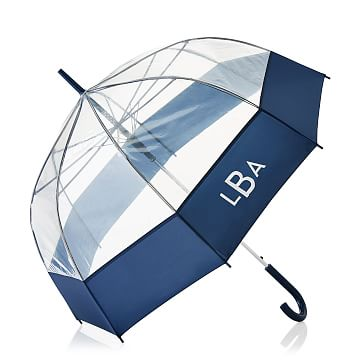 ShedRain Bubble Umbrella, Navy and Clear