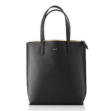 The Daily Tote, Leather, Black