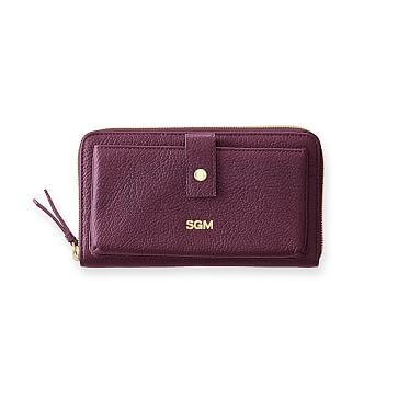 The Daily Wallet, Leather, Plum