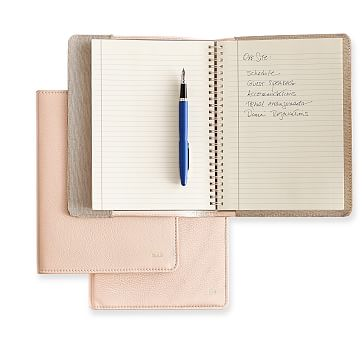 Leather Refillable Journal, Blush, Cover with Insert