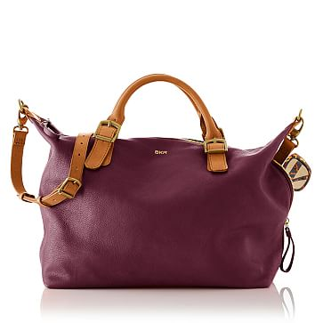 Brooklyn Buckle Bag, Aubergine