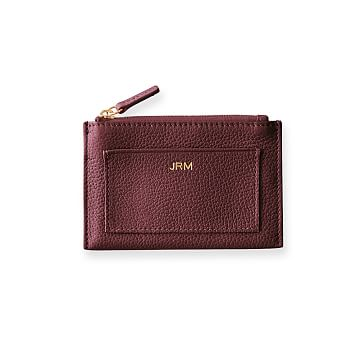 Vivid Zip Card Case, Plum