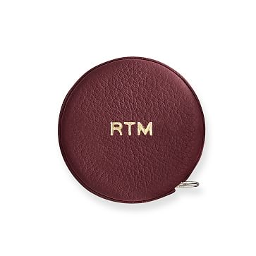 Leather Tape Measure, Plum