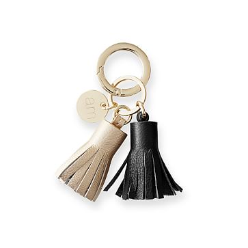 Lenox Tassel Keychain, Champagne-Black