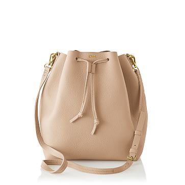 The Daily Bucket Bag, Leather, Blush