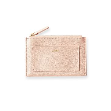 Vivid Zip Card Case, Blush