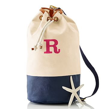 Dipped Canvas Bucket Bag, Navy