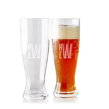 Acrylic Pilsner Glasses, Set of 2, Clear