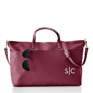 Lenox Leather Carryall, Berry