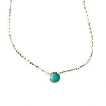 Ariel Gordon Stone Necklace, Emerald