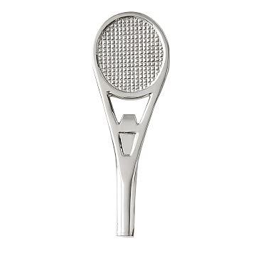 Tennis Racket Bottle Opener, Silver