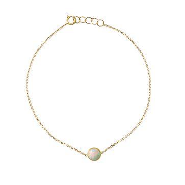 Ariel Gordon Semi-Precious Stone and 14 Karat Gold Bracelet, Opal