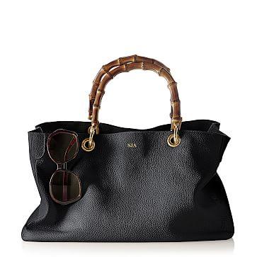 Bamboo Elisabetta Slouch Handbag, Black