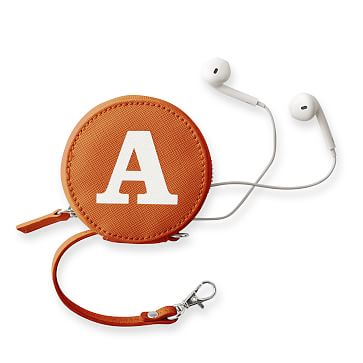 Colorfield Charger and Earbud Case, Orange